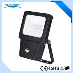 Flexible Aluminium Body 10W LED Flood Lamp with Motion Sensor pictures & photos