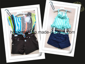 Kids Dress Short Sleeve and Shorts Suit for Girl/Child pictures & photos