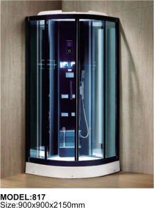 Simple Rectangle Sliding White ABS Steam Shower Room