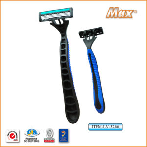 Good Quality Triple Blade Stainless Steel Blade Disposable Shaving Razor (LV-3264) pictures & photos