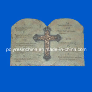 Resin Plaque with Cross and Words Saying pictures & photos