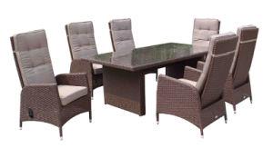 7 PCS Dining Set Air Cylinder Garden Rattan Furniture Adjustable Chair
