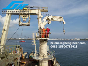 2.5t22m Hydraulic Knuckle Telescopic Boom Crane Marine Ship Deck Crane pictures & photos