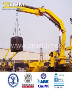 Offshore Marine Deck Crane Hydraulic Fixed on The Ship Floating Ship Crane pictures & photos
