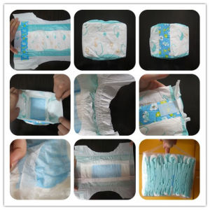 Customized Brand Disposable Baby Diaper with Cute Printed OEM pictures & photos