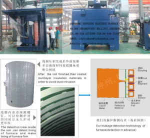 6ton Electric Induction Furnace Used to Melt Mentals Furnace