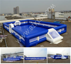 Small Football Filed Kids Play Inflatable Football Games Arena B6067 pictures & photos