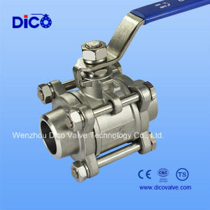 Stainless Steel Weld 3PC Ball Valve Q61f with Ce pictures & photos