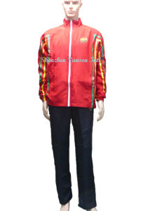 Polyester Peach Skin Track Suit with Sublimation Print Logo pictures & photos