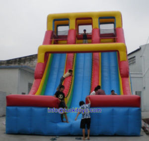 Durable and Reliable Inflatable Slide Made of 18 Oz PVC Tarpaulin (A570)