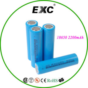 Flat Top Li Ion 18650 Battery 2200mAh pictures & photos