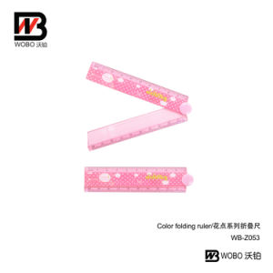 2016 10cm Cartoon Color Spot Folding Ruler for Office Stationery