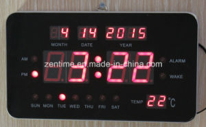 Electronic Digital Calendar Shelf or Wall Clock with Date pictures & photos