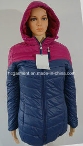 Sports Wear Down Jacket Long Style Hoodie Jacket for Women pictures & photos