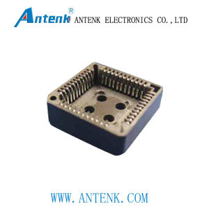 1.27/2.54mm Plcc Socket in DIP/SMT Type with Tin-Plated Contact pictures & photos