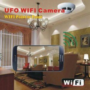 Mini Wireless Smoke Detector UFO WiFi Camera pictures & photos