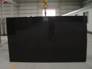 Polished Slab Shanxi Black Granite for Countertop pictures & photos