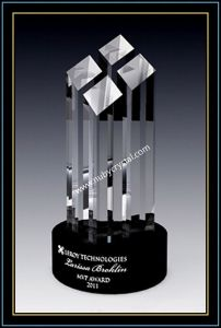 9 Inch Tall Crystal Faceted Tower Award (NU-CW775) pictures & photos