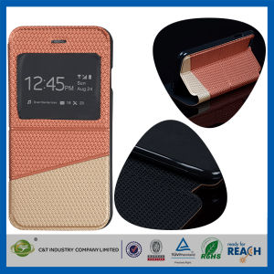 C&T Hot Saling Luxury Flip Leather Cover for iPhone 6 pictures & photos
