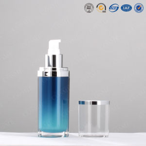 15ml 30ml 50ml 120ml Oval Silver Plastic Acrylic Luxury Cosmetic Packaging Lotion Pump Bottle pictures & photos