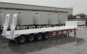 Cimc Lowbed Semi-Trailer with Four Axles Truck Chassis pictures & photos