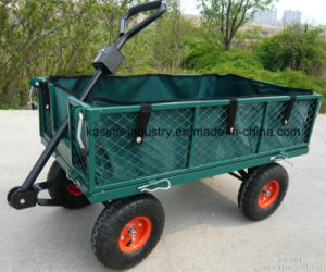 350kgs Capacity Heavy-Duty Steel Wire Mesh Cart with Canvas Bag (TC1840A-1) pictures & photos