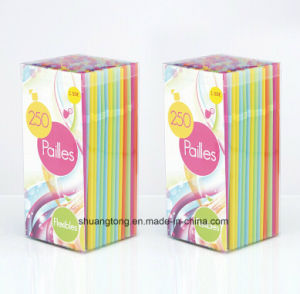 Tableware Pailles Plastic Tube Flexible Straw pictures & photos