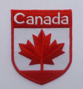 Canada Flag Embroidery Patch Custom Woven Badge (GZHY-PATCH-002) pictures & photos
