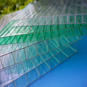 China Manufacturer Transparent Clear Polycarbonate Hollow Roofing Sheet pictures & photos