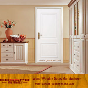 Modern Design High Quality White MDF Veneer Door (GSP8-039) pictures & photos