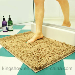Tufted Microfiber Polyester Chenille Long-Pile Carpet Bath Mat (40*60)