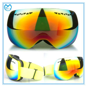 Adult OTG Mirror PC Interchangeable Lens Ski Snow Glasses pictures & photos