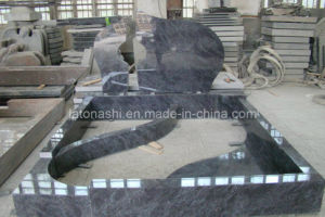 Granite Monument Tombstone with Carving pictures & photos