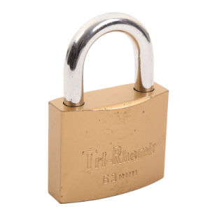 Copper Plated Lock Body Iron Padlock (SS-026) pictures & photos