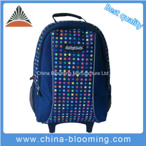 Back to School Book Bag Trolley Rolling Student Backpack pictures & photos