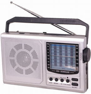Multifunction Radio with USB/SD and Rechargeable Battery