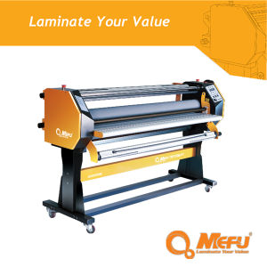 Mefu Hot Sale Single Side Roller Hot and Cold Laminator Machine with Hand Crank pictures & photos
