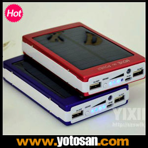 Solar 30000 mAh Dual USB Output Power Bank Universal Charger pictures & photos
