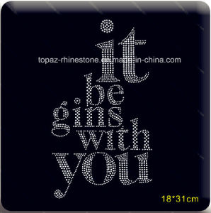 Hot Fix Motif Rhinestone Motif Heat Transfer Design with Letters pictures & photos