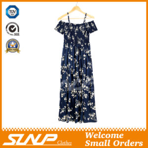 High Quality Export Printing Flower Ladies Dress Clothing