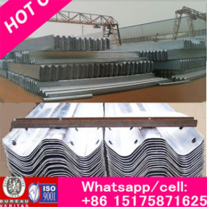 Rich Steel Anti-Collision Waveform Guardrail for W Beam Used for Highway, Flexible Hot DIP Galvanized pictures & photos