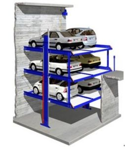 Six Cars Hydraulic Two Layer Car Parking System in Pit