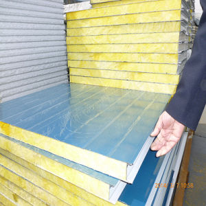 China steel glass wool insulation wall panel china steel for Steel wool insulation