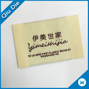 Factory Direct Sale high Density Charm Woven Label for Dress pictures & photos