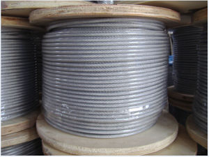 6X7galvanized Steel Wire Rope/Transparent PVC Coated/Galvanized Wire Rope pictures & photos