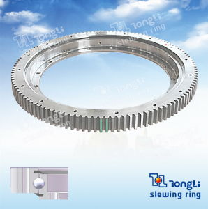Light Series European Standard /Thin Section/L-Shaped/Outer Gear Ball Slewing Bearing pictures & photos