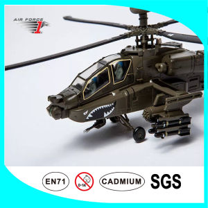 Ah-64 Apache No Resin Airplane Model Made of Alloy Material