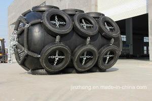 Inflated Yokahama Fenders with Tire Net