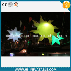 Custom Made Club / Party Decoration Inflatable Sun Ball Balloon with LED Light for Sale