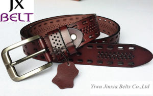 High Quality Real Leather Man′s Cowhide Leather Belt pictures & photos